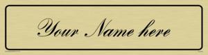 Custom Door Sign With Bank Script Font