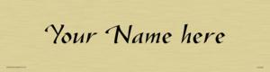 Custom Door Sign With Gazelle Font
