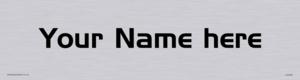 Custom Door Sign With Handel Gothic Font