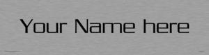 Custom Door Sign With Serpentine Light Font