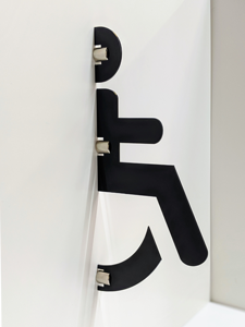Disabled stand-out toilet sign