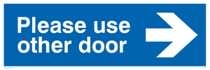 Please use other door (Arrow Right)