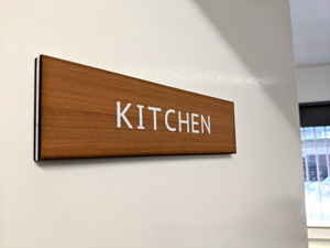 Cherrywood Stencil Door Signs