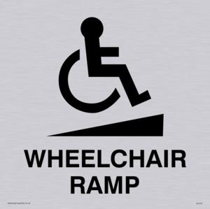 wheelchair ramp disability sign