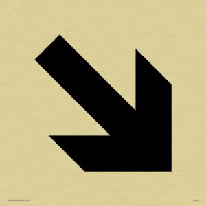 diagonal arrow only sign
