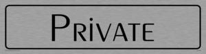 private - door sign