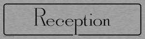 reception - door sign