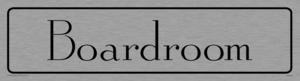 boardroom - door sign