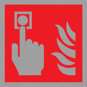 fire alarm call point symbol only