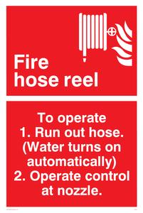 Fire hose reel (automatic)