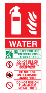 this extinguisher contains water instructions for use