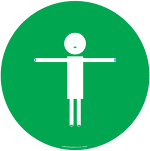 2m Child friendly symbol - green