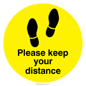 Please keep your distance - Yellow/Black