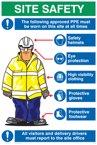 PPE sign with graphic