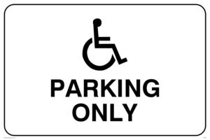 disabled symbol parking only