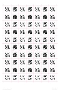 UKCA label sheet