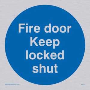 fire door keep locked shut