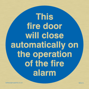 Fire door closes automatically