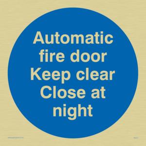 Auto fire door keep clear