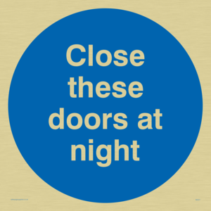 close these doors at night