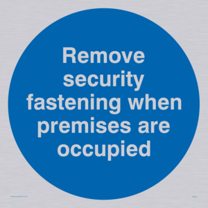Remove security when occupied