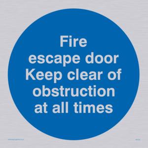 Fire escape no obstructions