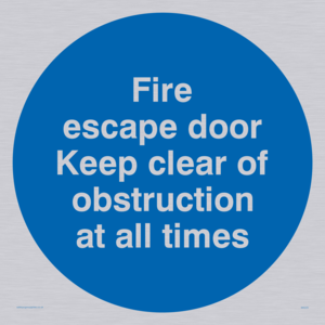 Fire escape no obstructions