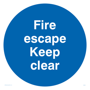 fire escape keep clear