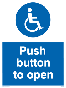 Push button to open