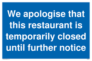 We apologise that this restaurant is temporarily closed until further notice