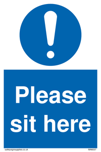 Please sit here