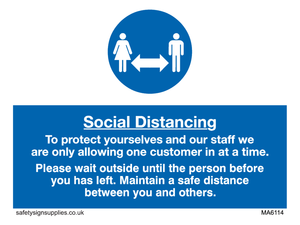 Social distancing to protect you and our staff