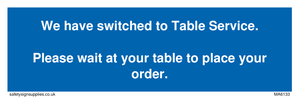 We have switched to Table Service.