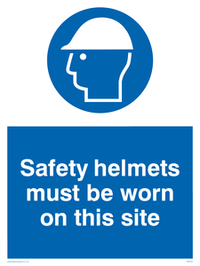 Safety helmets on site