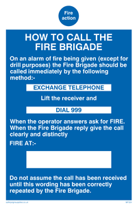 fire action how to call the fire brigade
