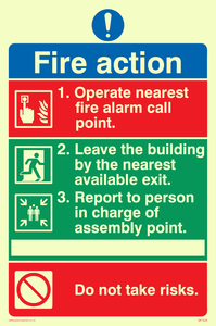 Pictorial fire action no lifts