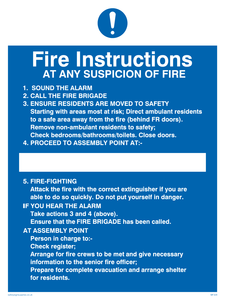 fire instructions for residential buildings