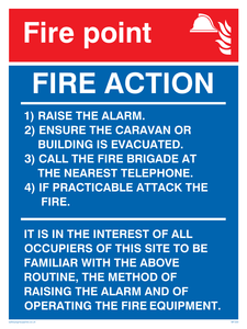 fire point & fire action for portable buildings