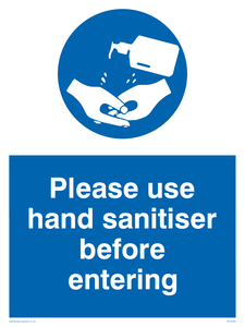 Please use hand sanitiser