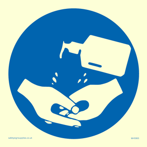 Hand sanitiser symbol