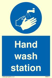 Hand wash station