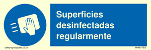 Superficies desinfectadas regularmente
