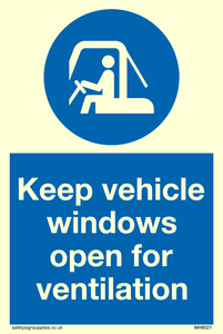 Keep vehicle windows open for ventilation