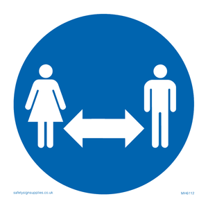 Social Distancing Sign with no 2m or distance number