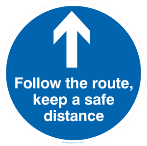 Follow the route, keep a safe distance