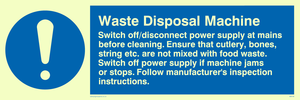 waste disposal machine rules