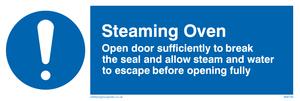 Steaming oven break seal