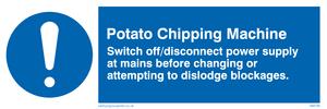 potato chipping machine rules