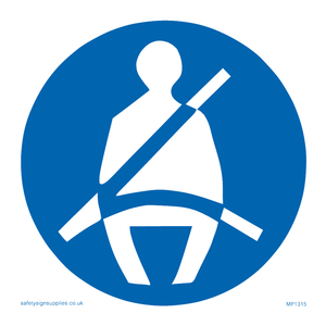 seatbelts must be worn symbol