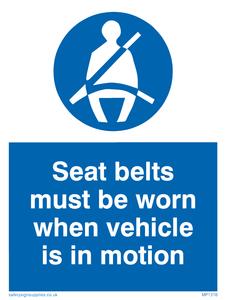 seltbelts worn in motion